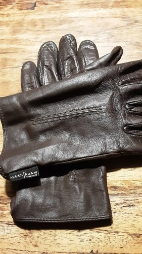 Mark Adam Leather Gloves dark brown leather