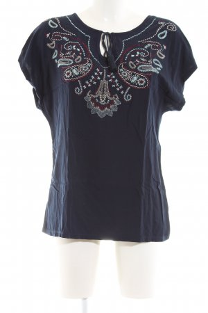 Mark Adam Kurzarm-Bluse blau Casual-Look