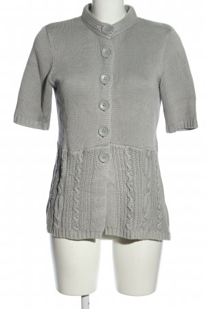 Mark Adam Short Sleeve Knitted Jacket light grey cable stitch casual look