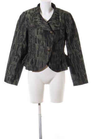 Mark Adam Leren blazer khaki abstract patroon elegant