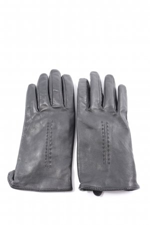 Mark Adam Leather Gloves light grey casual look