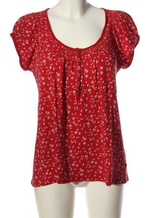 Mark Adam Print-Shirt rot-weiß Allover-Druck Casual-Look