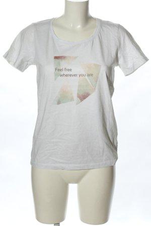 Mark Adam Print-Shirt weiß Motivdruck Casual-Look
