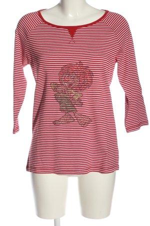 Mark Adam Koszulka w paski czerwony-biały Na całej powierzchni W stylu casual