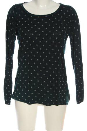 Mark Adam Crewneck Sweater black-light grey spot pattern casual look