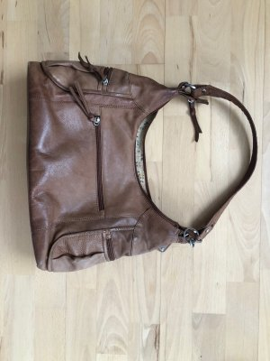 Mark Adam Tasche Handtasche Leder Ledertasche braun