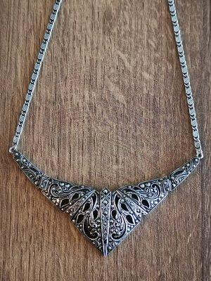 Markasiten Silberkette Collier ART DEKO
