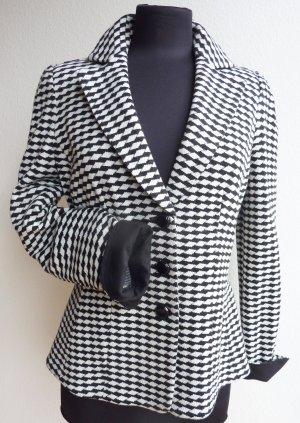 Armani Klassischer Blazer blanc-noir laine