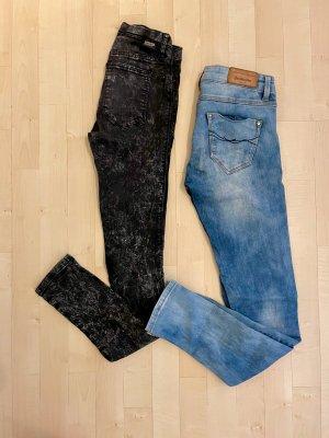 DR DENIM JEANSMAKERS Stretch jeans zwart-korenblauw