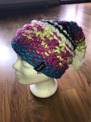 Burton Chapeau en tricot bleu-rose