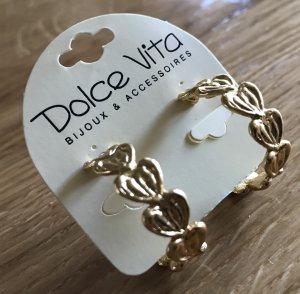 Marken Ohrringe Dolce Vita offene Creolen Ohrringe gold goldfarben offene Creolen goldfarben Neu Dolce Vita