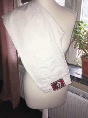 Arqueonautas Jeans taille basse blanc coton