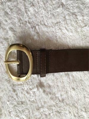 Pieces Cintura marrone scuro-oro