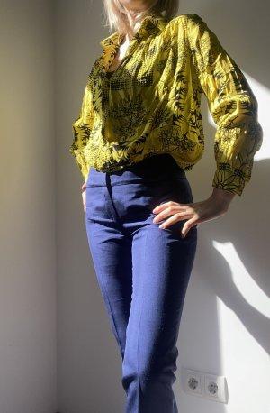 Agnona Linen Pants dark blue