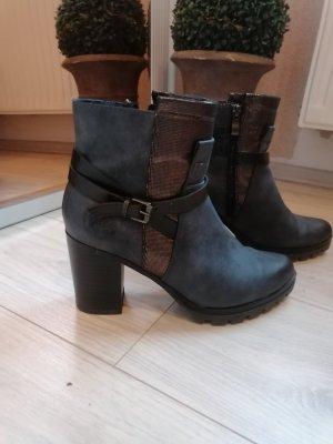 Korte laarzen donkerblauw