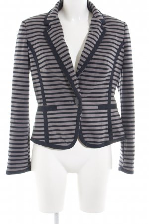 Marks and Spencer Jerseyblazer hellgrau-dunkelgrau Streifenmuster Casual-Look