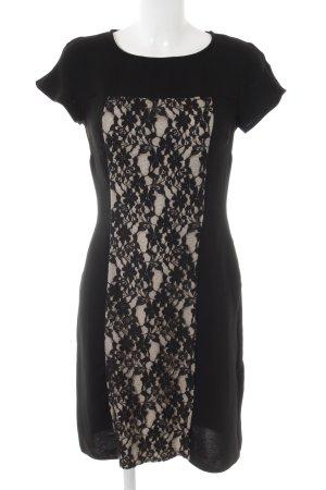 Marks & Spencer (Autograph) Etuikleid schwarz-creme florales Muster Elegant