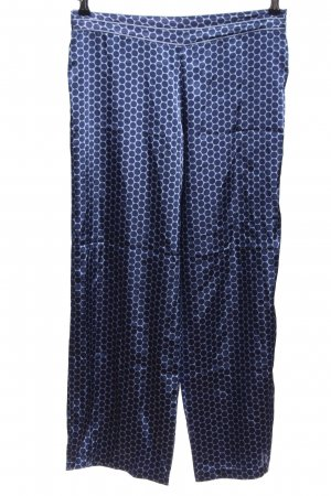 Marks & Spencer (Autograph) Stoffhose blau-weiß Punktemuster Casual-Look