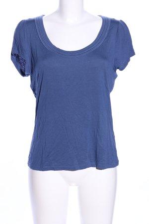 Marks & Spencer (Autograph) U-Boot-Shirt blau Casual-Look