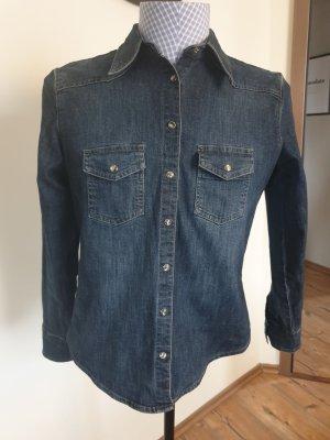 Marks & Spencer Bluzka jeansowa ciemnoniebieski