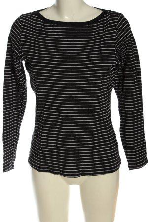 Marks & Spencer T-shirt rayé noir-blanc imprimé allover style décontracté