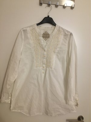 Marks & Spender Indigo Collection Bluse langarm, wollweiß, creme Gr. 48/50 wie Neu