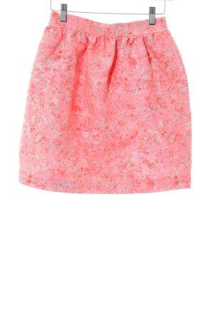 Markus Lupfer Balloon Skirt neon pink-turquoise camouflage pattern