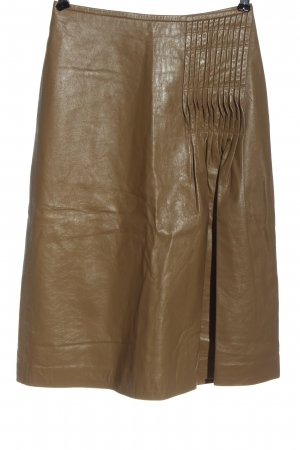 Markus Lupfer Leather Skirt brown casual look