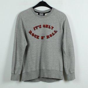 MARKUS LUPFER Sweatshirt  Gr. S grau rot oversize (19/11/069)