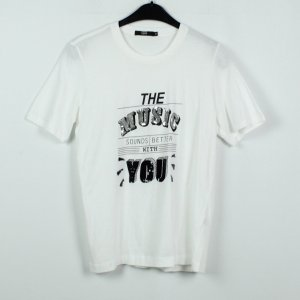 Markus Lupfer T-Shirt white-black cotton