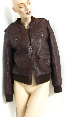 Marlboro Classics Bomber Jacket brown leather