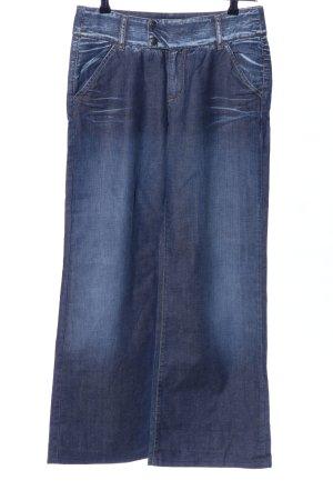 Marlboro Jeansschlaghose blau Casual-Look