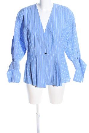 Marlene Birger Hemd-Bluse blau-weiß Streifenmuster Business-Look