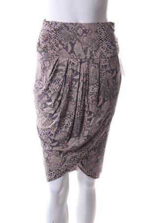 Marlene Birger High Waist Skirt animal pattern casual look