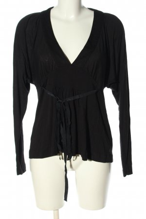 Marlene Birger Long Sleeve Blouse black casual look