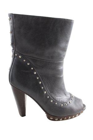 Marlene Birger Peep Toe Booties black extravagant style