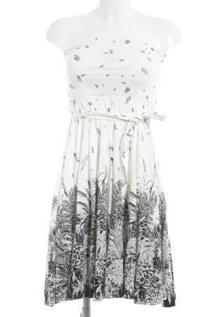 Marlene Birger Off-The-Shoulder Dress black-white casual look