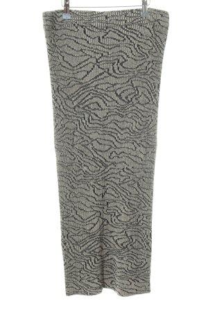 Marlene Birger Gonna lavorata a maglia nero-bianco sporco stile semplice