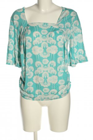 Marlene Birger T-Shirt turquoise-white allover print casual look