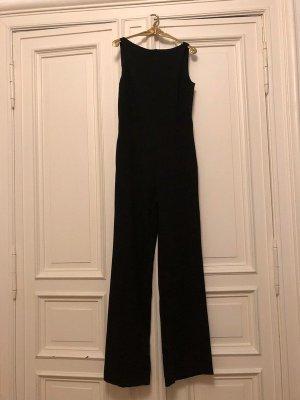 Zara Basic Pantalone Marlene nero Acetato