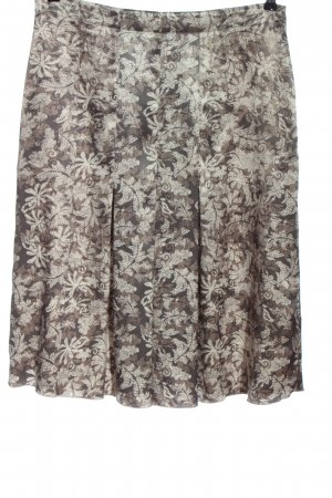 Marlène High Waist Skirt brown-white abstract pattern casual look