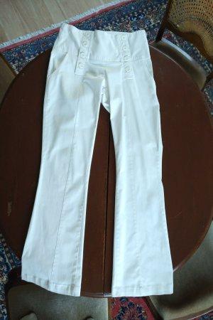 Spodnie Marlena biały Elastan