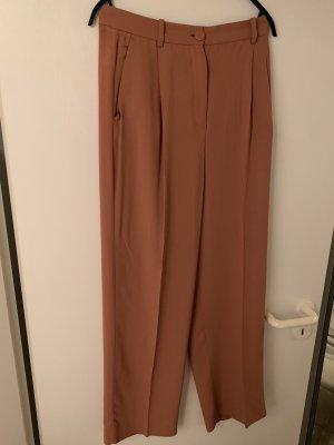 Zara Marlene Dietrich broek donker oranje-roodbruin