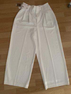 Uniqlo Spodnie Marlena kremowy