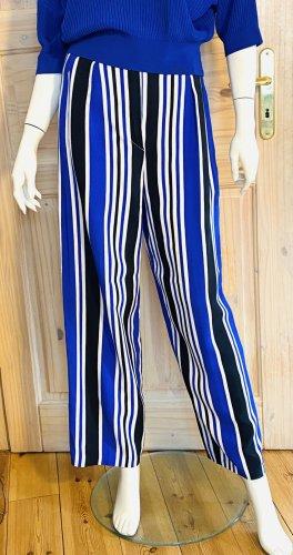 Angelo Tarlazzi Spodnie Marlena niebieski-biały Bawełna