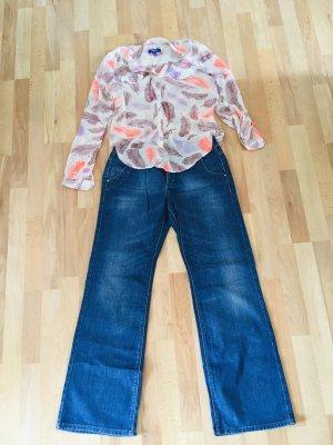 Esprit Jeans large bleu-rosé