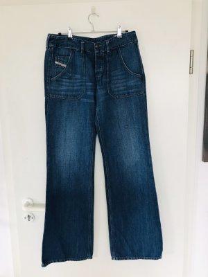 Diesel Industry Jeans large bleu foncé