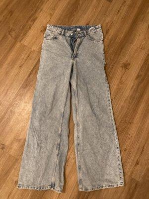 H&M Jeans large bleu azur coton
