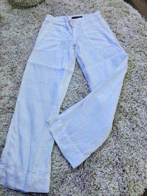 Ralph Lauren Lniane spodnie biały Len