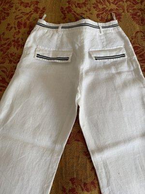 Marlene Trousers white-dark blue linen